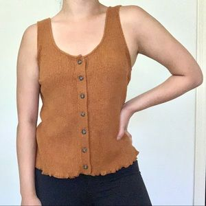 Madewell Kingston Button Front Sweater Tank